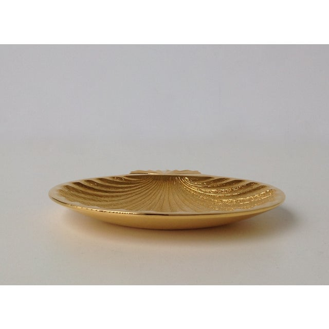 Gold Plated Fanned Shell-Shape Ring Dish - Image 4 of 11