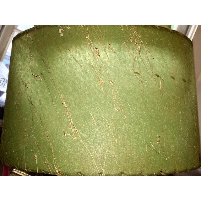 Atomic Green Fiberglass 2 Tier Lampshade For Sale - Image 5 of 6