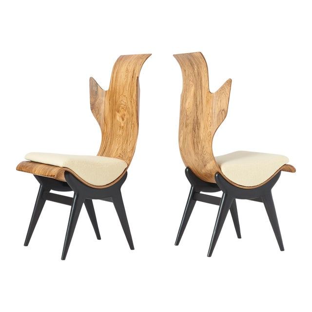 "Pair of ""Flame"" Chairs by Dante LaTorre For Sale"