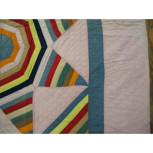 1920s Antique American Quilt Blanket For Sale - Image 5 of 6