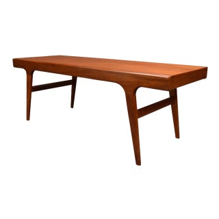 1960's Vintage Johannes Andersen Style Danish Coffee Table For Sale