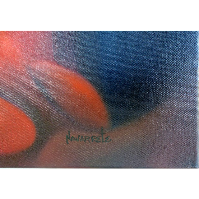 Abstract Contemporary Oil Painting by Cuban American Artist Juan Navarette For Sale - Image 3 of 8