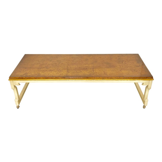 Tomelinson Burled Wood Coffee Table For Sale