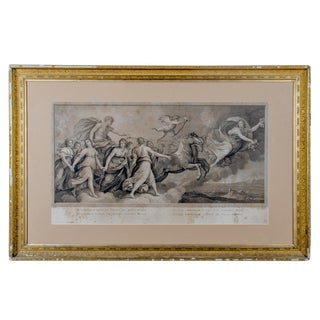 Italian Aurora Engraving After Guido Reni Fresco Painting by r.s. Morghen, C.1787 For Sale