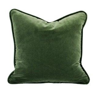 Contemporary Velvet Forest Green Pillow Cover For Sale