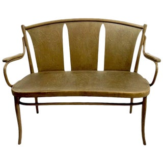 Bentwood Bench by Thonet For Sale