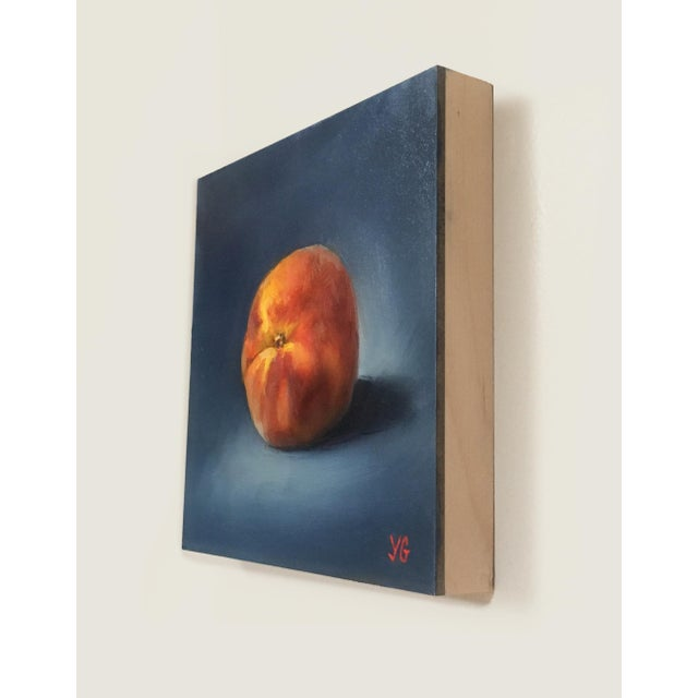 Peach Original Oil Painting For Sale - Image 5 of 5