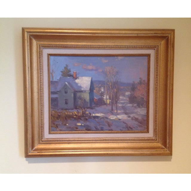 Impressionism John C. Traynor, Farm House Painting For Sale - Image 3 of 3
