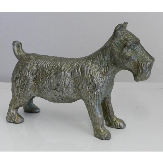 English Vintage Cast Iron Scottish Terrier Doorstop For Sale - Image 3 of 5