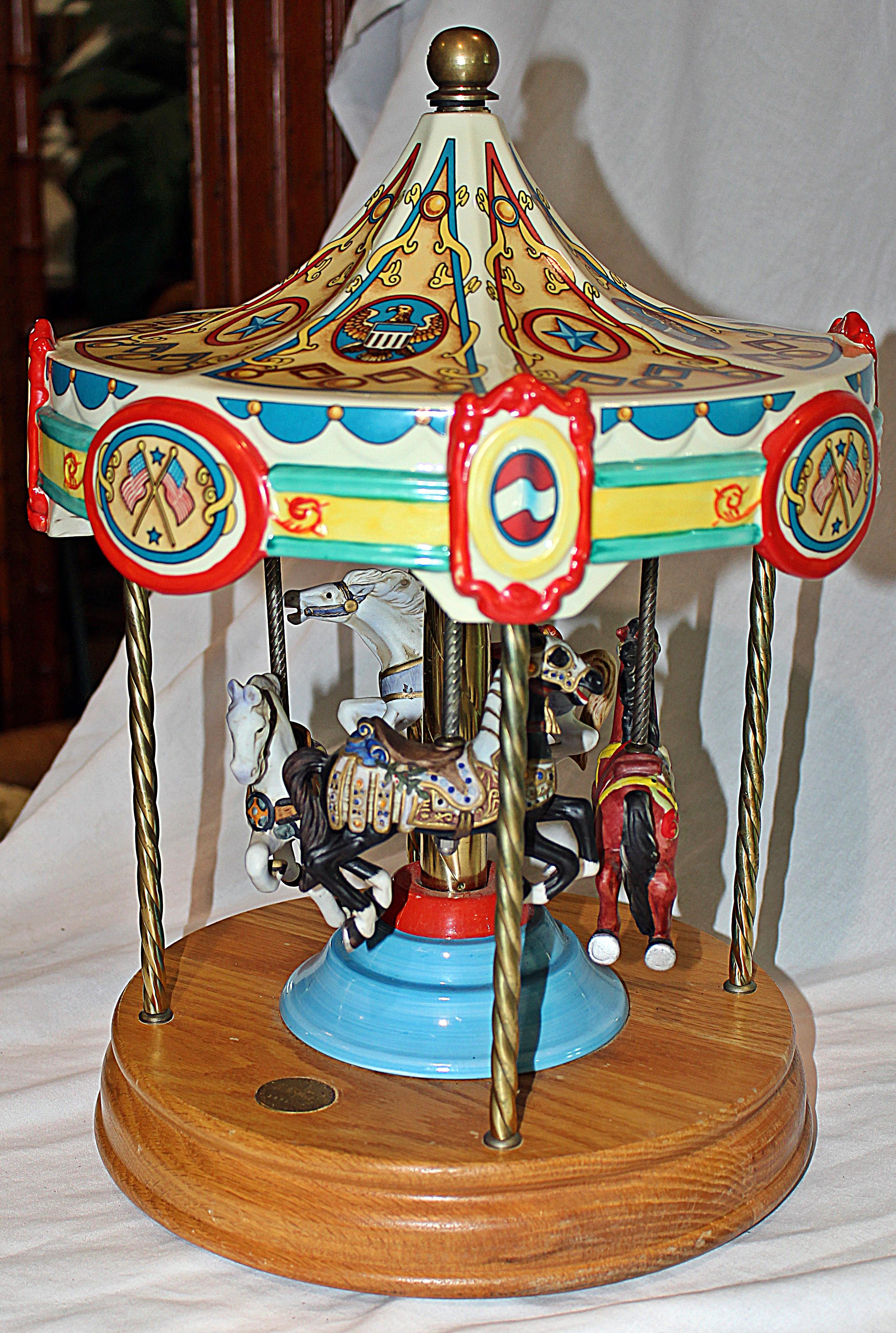Genial Tabletop Carousel By Fraley For Sale   Image 4 Of 9