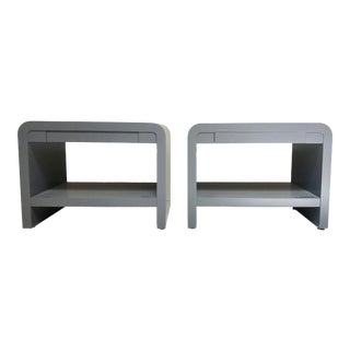 Contemporary Sally Sirkin Lewis for J. Robert Scott Lacquered Side Tables - a Pair For Sale