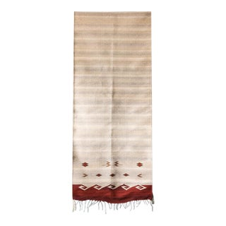 Native American Style Handwoven Wool Runner - 3′ × 12′ For Sale