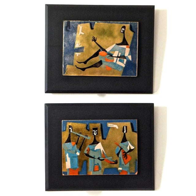 Pair of French Enameled Plaques - Image 4 of 10