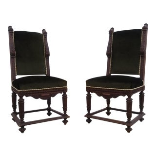 Early 19th Century Renaissance Revival Side Chairs- a Pair For Sale
