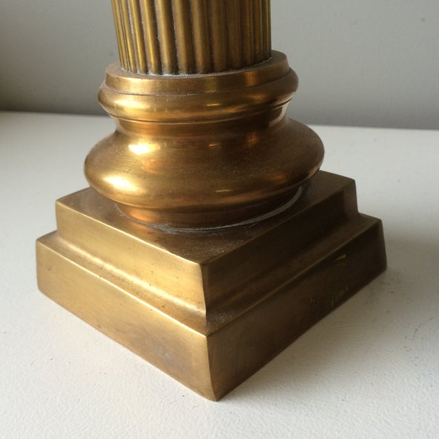 Brass Column Candleholders - Set of 3 For Sale In Atlanta - Image 6 of 7
