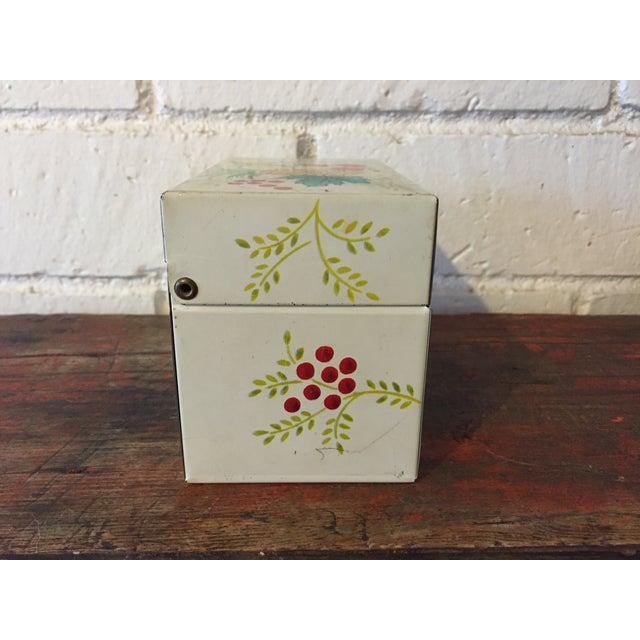 Tin Recipe Box With Fruit - Image 6 of 9