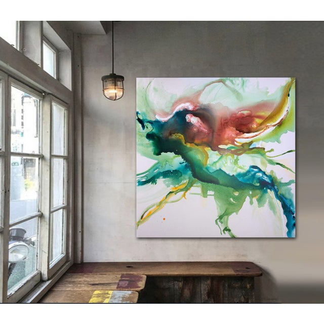 Hustle & Flow Original Abstract Painting - Image 2 of 6