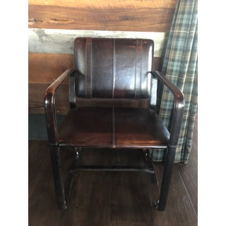 Restoration Hardware Leather Buckle Chair Preview