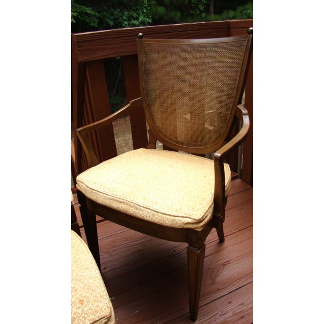 Thomasville Italian Cane Brass Dining Chairs - 6 - Image 3 of 11