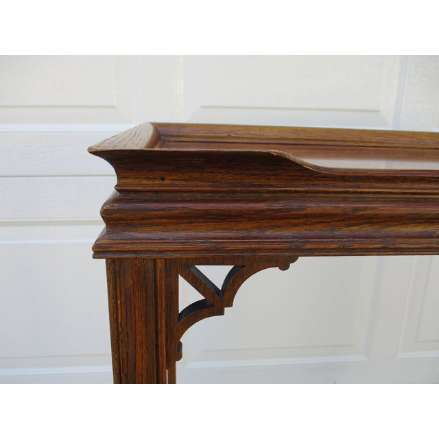Wood Chippendale Style Console Table For Sale - Image 7 of 11