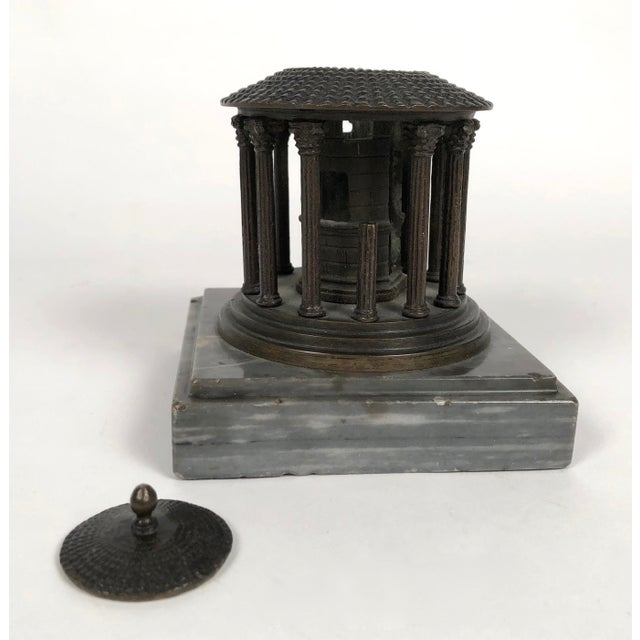 Grand Tour 19th Century Neoclassical Grand Tour Bronze Model of the Temple of Vesta, Rome For Sale - Image 3 of 8