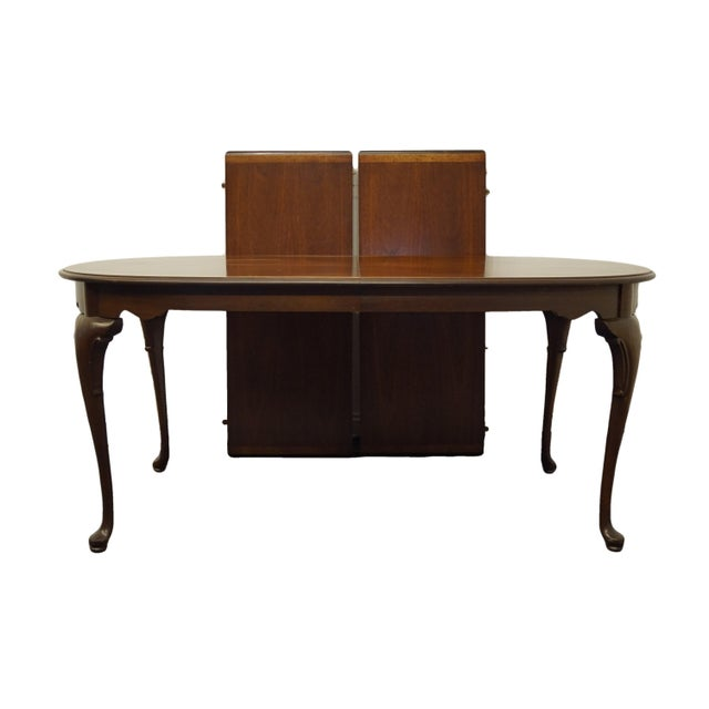 Statton Furniture Banded Mahogany Dining Table For Sale - Image 11 of 11