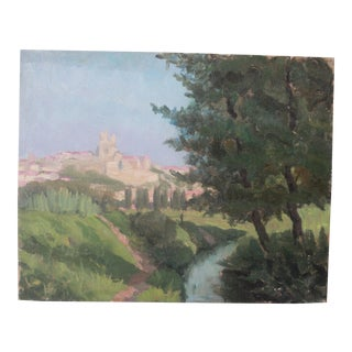 Early 20th Century Vintage Impressionist Oil Painting For Sale