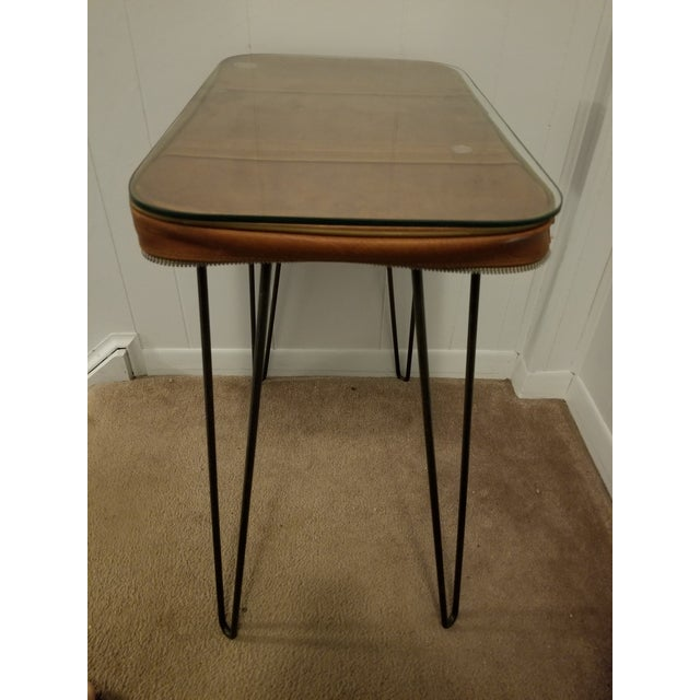 Vintage Suitcase Upcycled Side Table For Sale In Washington DC - Image 6 of 7