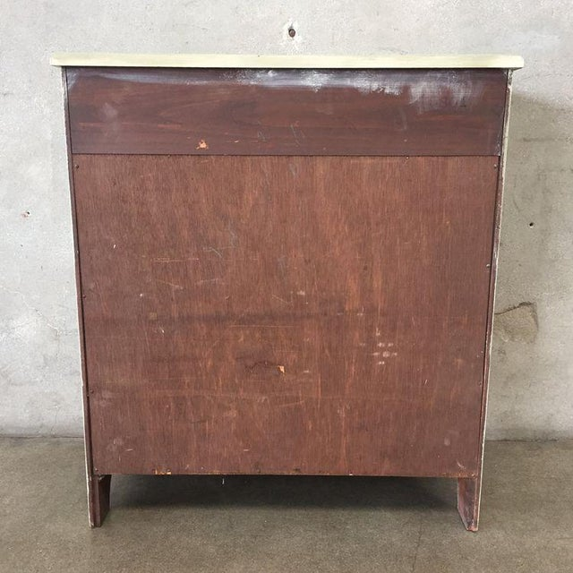 Early American Antique White Secretary Dresser For Sale - Image 10 of 11