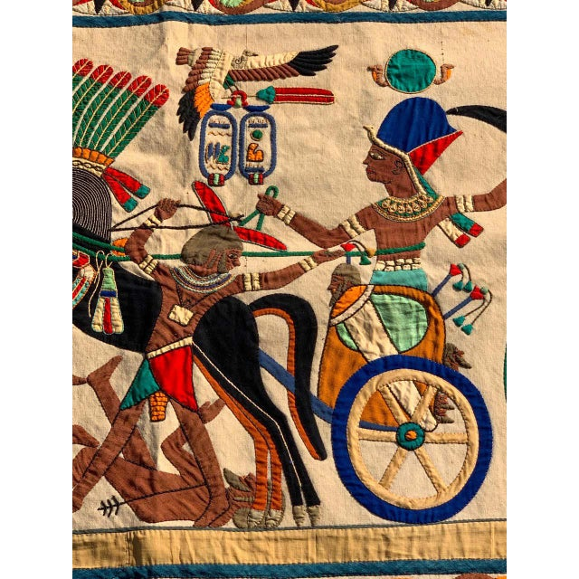 French Grand Tour Egyptian Tomb Tapestry, Circa 1925 For Sale In Atlanta - Image 6 of 9