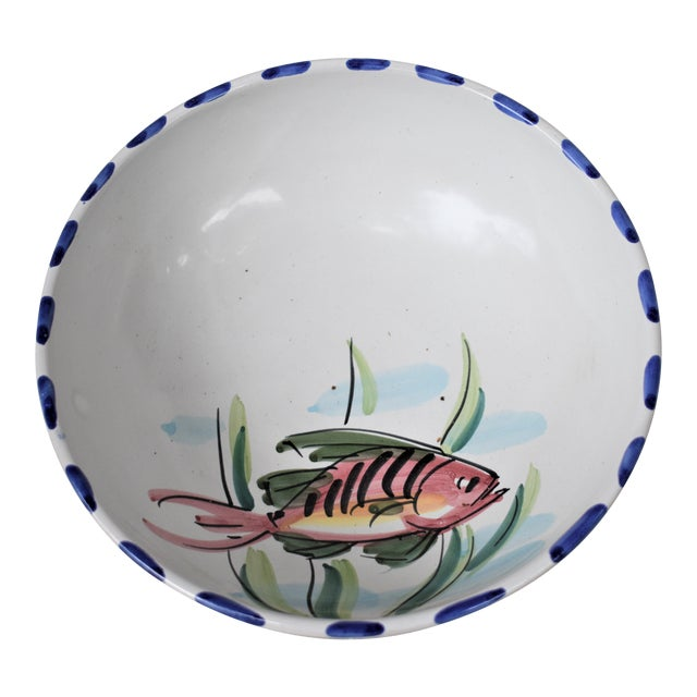 Vietri Fish Decorated Bowl For Sale