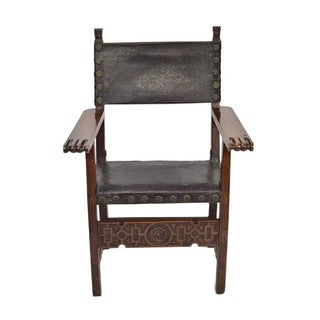 17th C. Spanish Renaissance Friar Chair Preview