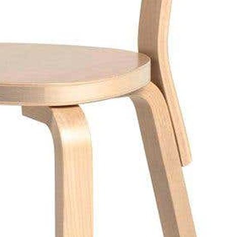Authentic Chair 69 in Birch by Alvar Aalto & Artek For Sale In Los Angeles - Image 6 of 8