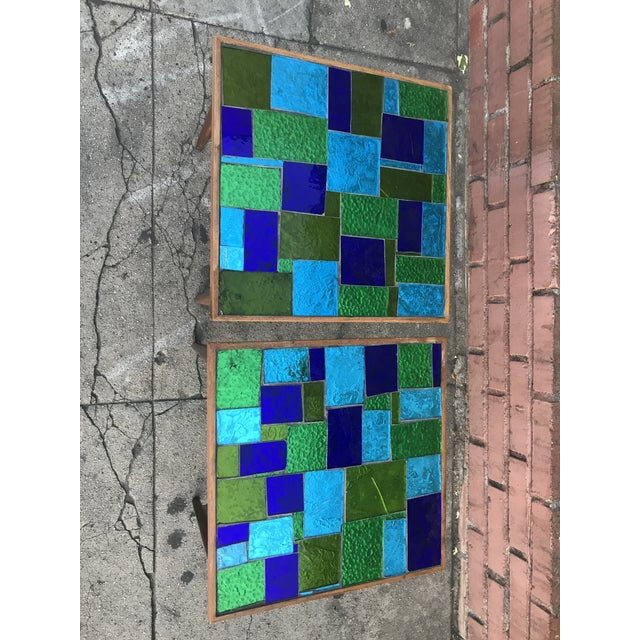 Mid Century Georges Briard Mosaic Glass Tables - a Pair For Sale - Image 10 of 12