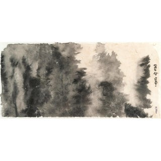 "Ayan Rivera "" Pine Forest"" Sumi Ink Original Painting Framed For Sale"