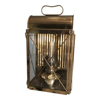Traditional Solid Brass Mountable Oil Lantern For Sale