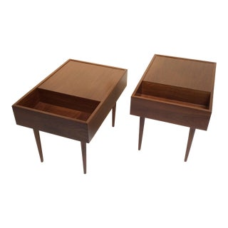 1950s Mid-Century Modern Milo Baughman for Glenn of California End Tables - a Pair For Sale