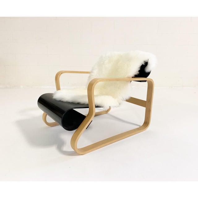 "Black Alvar Aalto Armchair 41 ""Paimio"" Lounge Chair For Sale - Image 8 of 11"