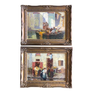20th Century Italian Life Paintings - a Pair For Sale