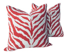 Image of Red Outdoor Pillows