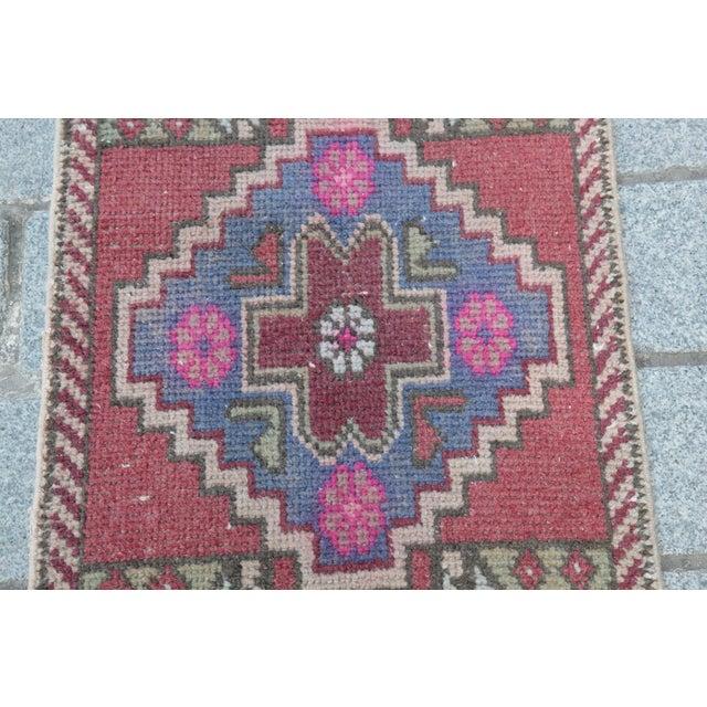 Antique Turkish Carpet - 1′6″ × 3′1″ - Image 5 of 11