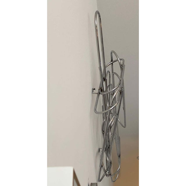 Silver Wall Sculpture of Paper Clips by Curtis Jere For Sale - Image 8 of 11