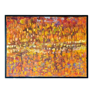 Original Abstract Oil on Canvas, Ca. 1965 For Sale