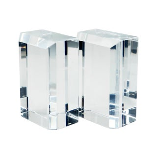 1970s Mid-Century Modern Ritts Co. Astrolite Lucite Bookends - a Pair For Sale
