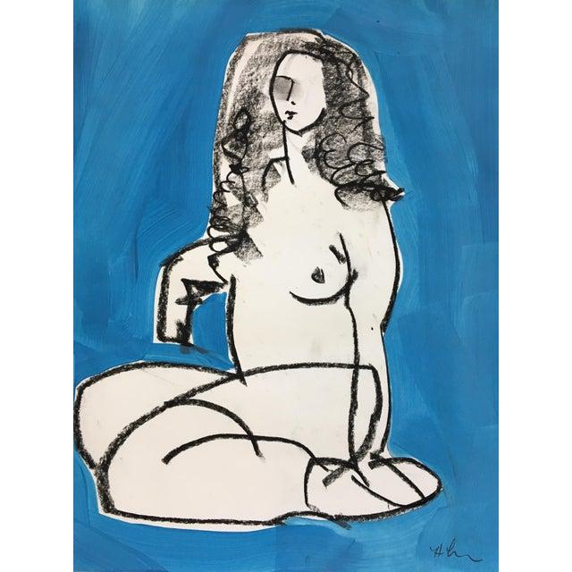 Heidi Lanino Ali in Blue 4 Drawing by Heidi Lanino - 16 X 12 For Sale - Image 4 of 4