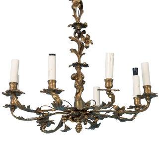 Antique 19th Century Danish Brass Eight Light Chandelier For Sale