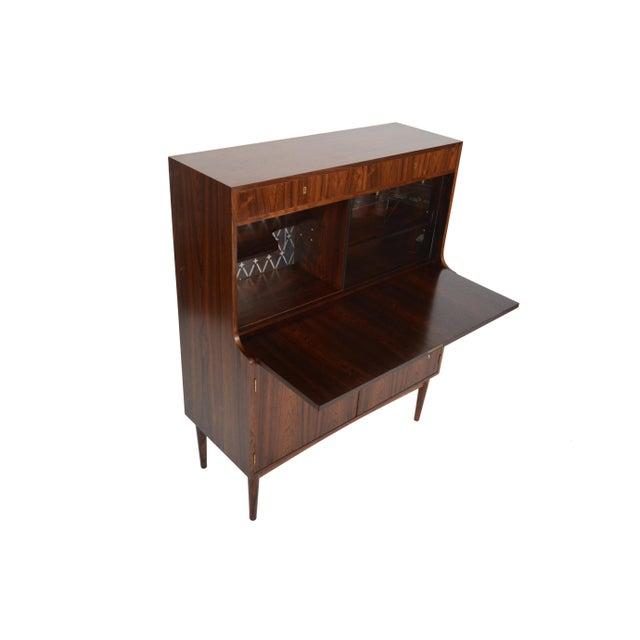 Danish Modern Rosewood Secretary Bar - Image 6 of 9