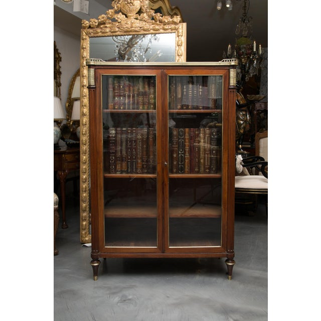 19th Century, Louis XVI Style Mahogany Bookcase For Sale - Image 10 of 10