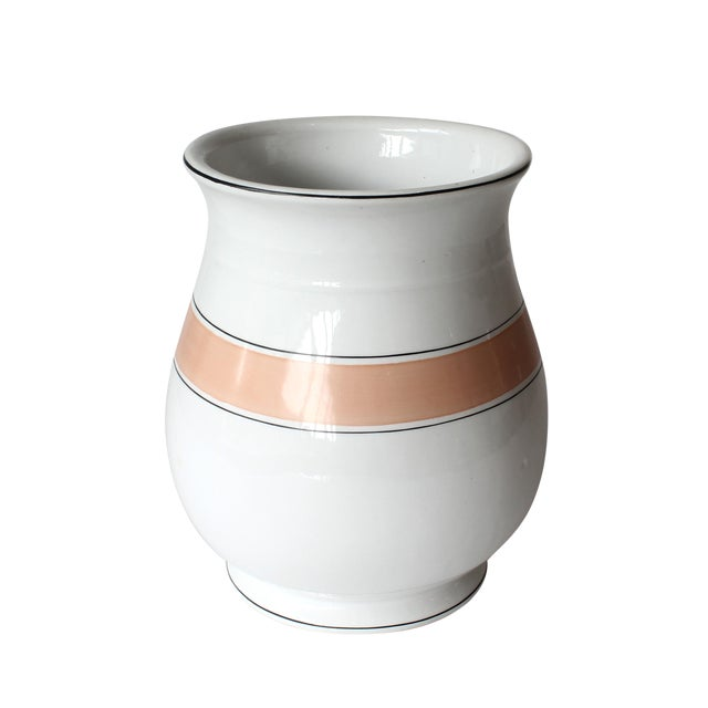 20th Century Minimalistic Striped Vase Chairish