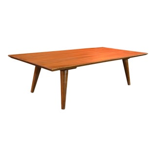 1950s Mid-Century Modern Paul McCobb Planner Group Sleek Walnut Coffee Table For Sale